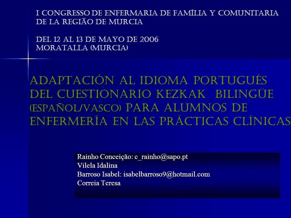 I Congresso de Enfermaria de Família Y Comunitaria de la Região de Murcia