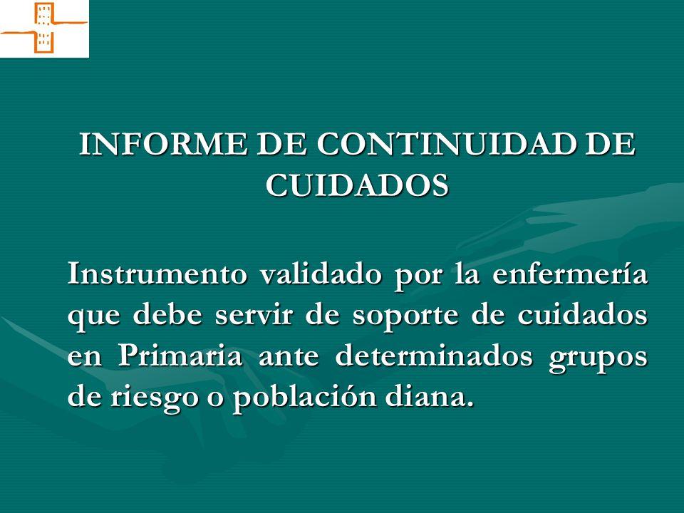 INFORME DE CONTINUIDAD DE CUIDADOS