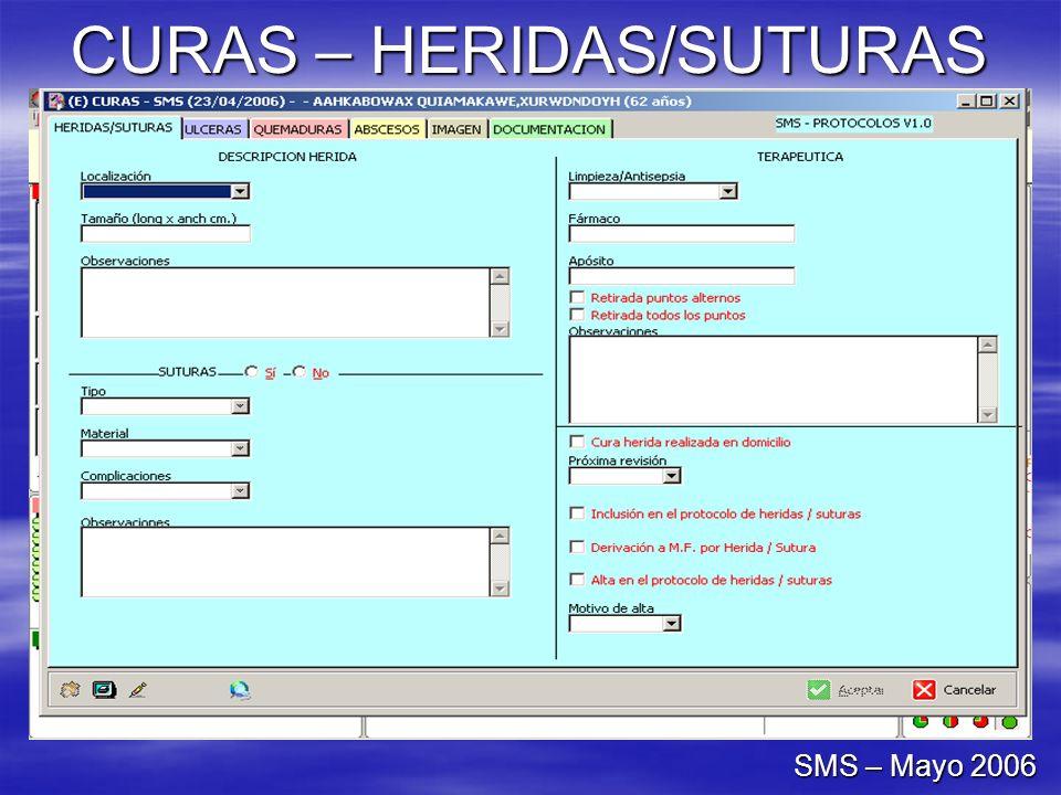 CURAS – HERIDAS/SUTURAS