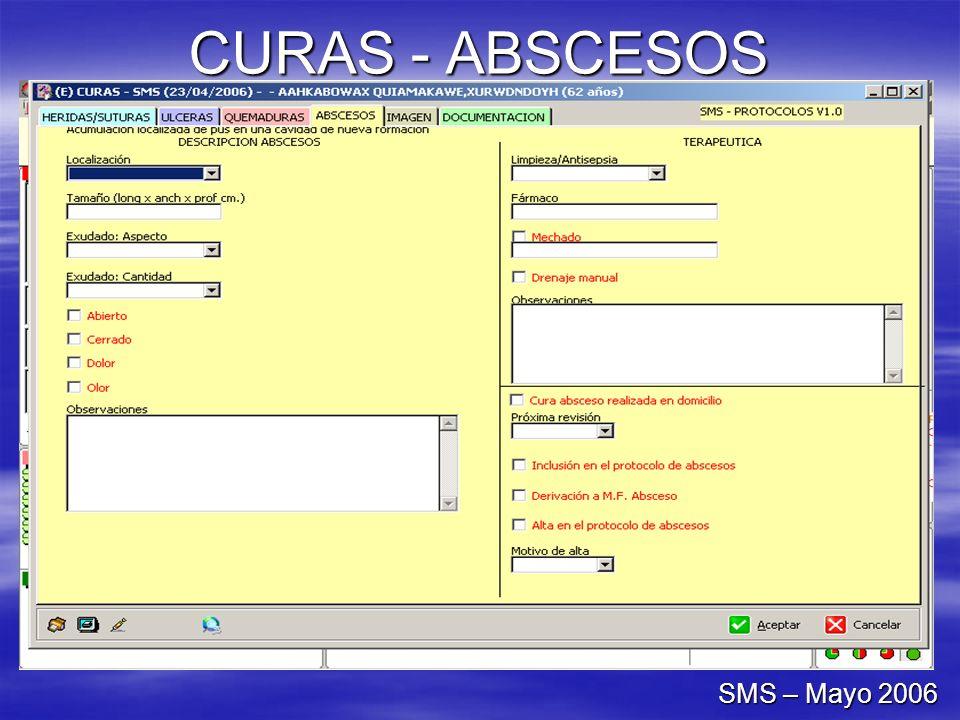 CURAS - ABSCESOS SMS – Mayo 2006