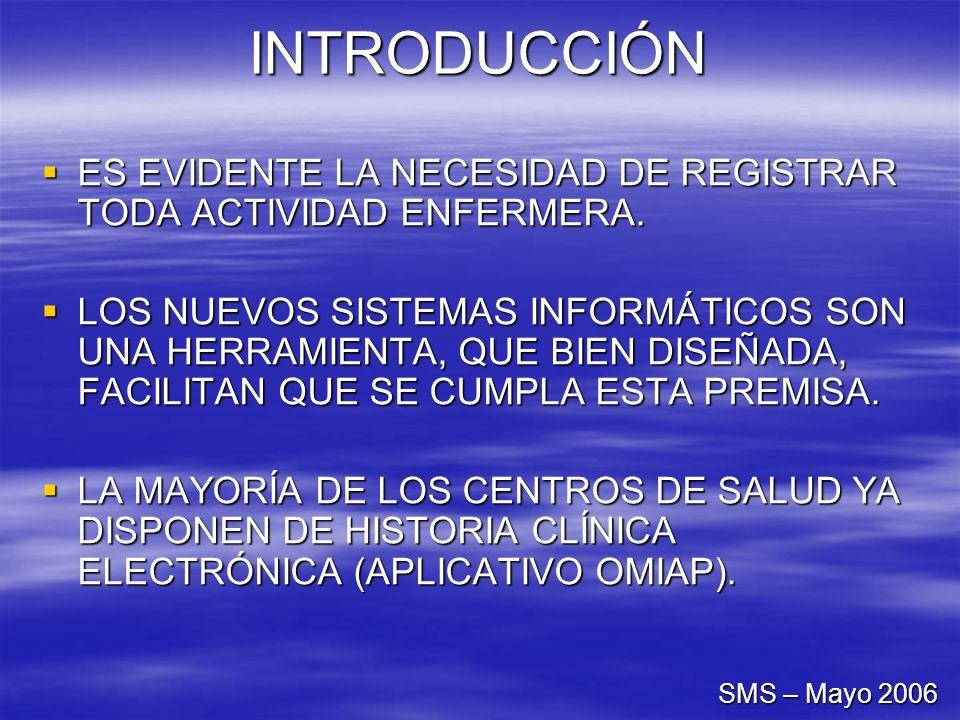 INTRODUCCIÓN ES EVIDENTE LA NECESIDAD DE REGISTRAR TODA ACTIVIDAD ENFERMERA.