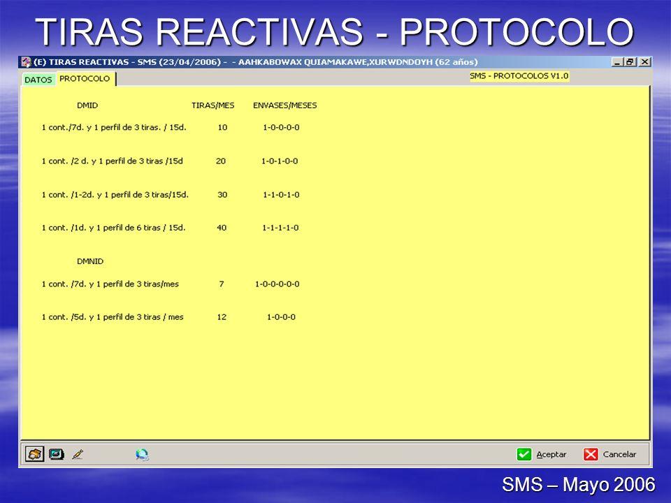 TIRAS REACTIVAS - PROTOCOLO