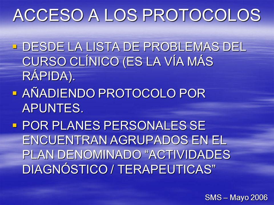 ACCESO A LOS PROTOCOLOS