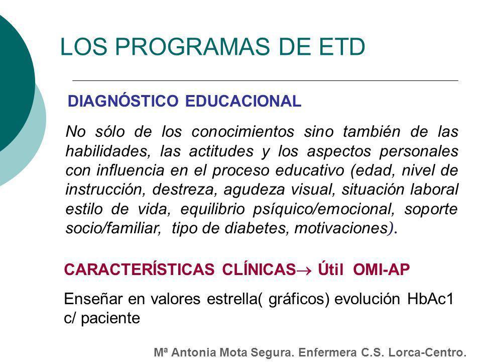 LOS PROGRAMAS DE ETD DIAGNÓSTICO EDUCACIONAL