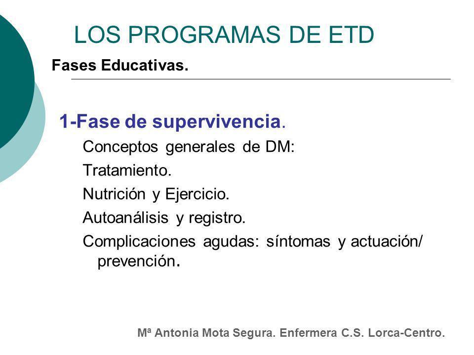 LOS PROGRAMAS DE ETD 1-Fase de supervivencia.