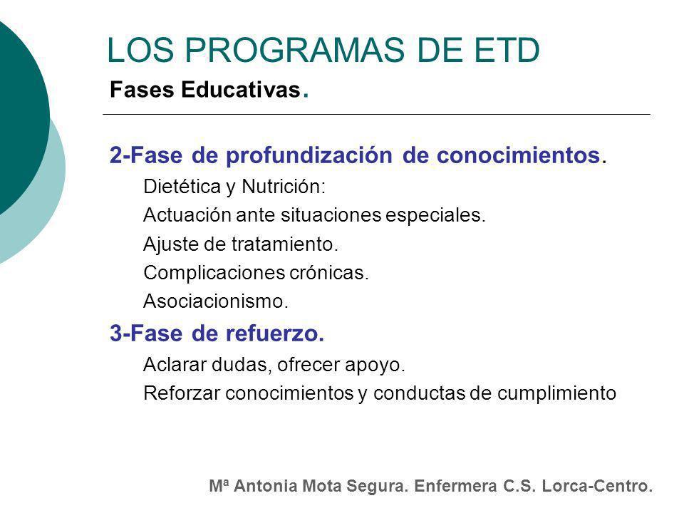 LOS PROGRAMAS DE ETD 2-Fase de profundización de conocimientos.