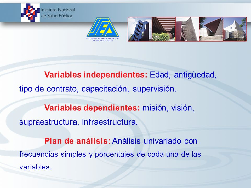 Variables independientes: Edad, antigüedad, tipo de contrato, capacitación, supervisión.