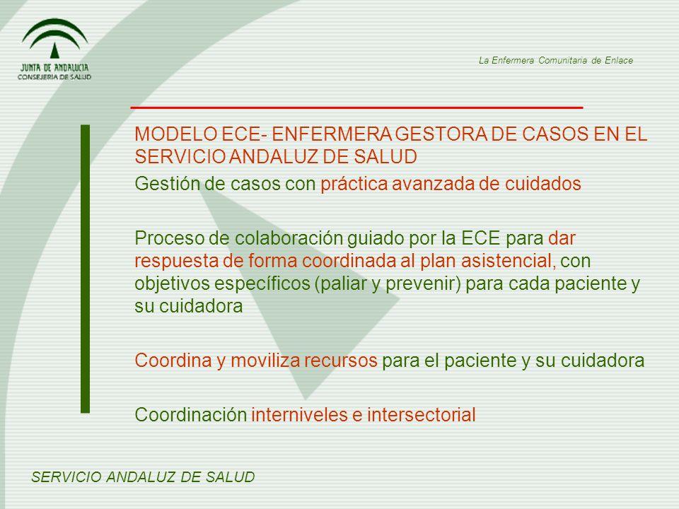MODELO ECE- ENFERMERA GESTORA DE CASOS EN EL SERVICIO ANDALUZ DE SALUD