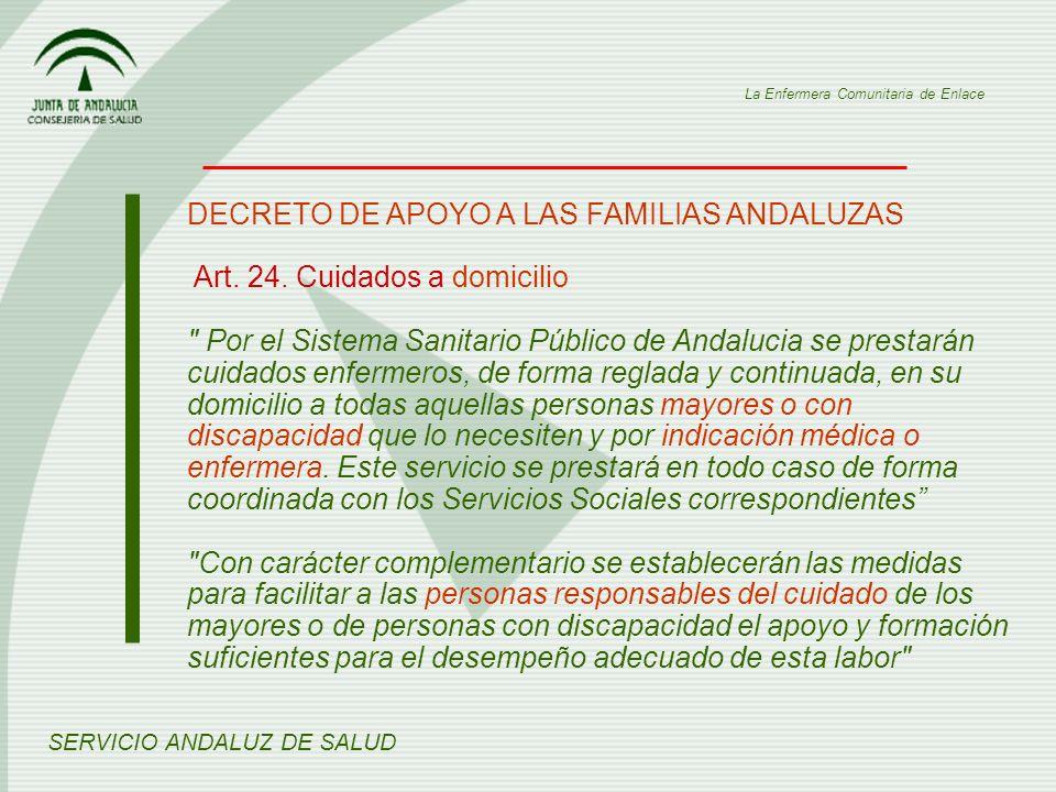 DECRETO DE APOYO A LAS FAMILIAS ANDALUZAS