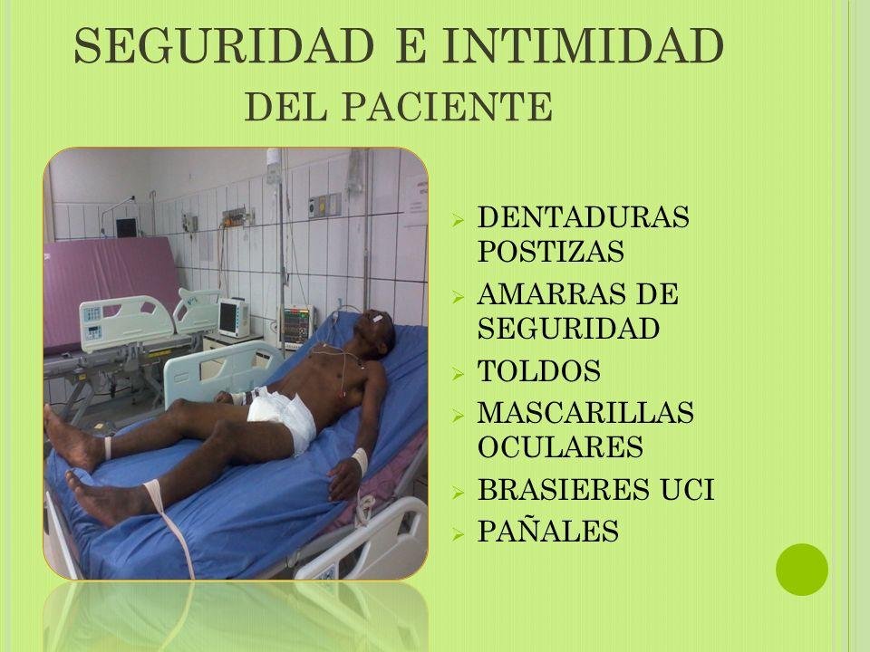 SEGURIDAD E INTIMIDAD del paciente