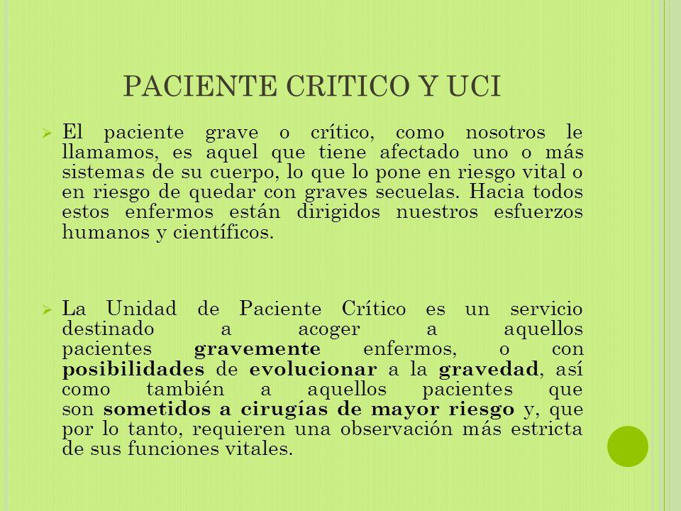 PACIENTE CRITICO Y UCI