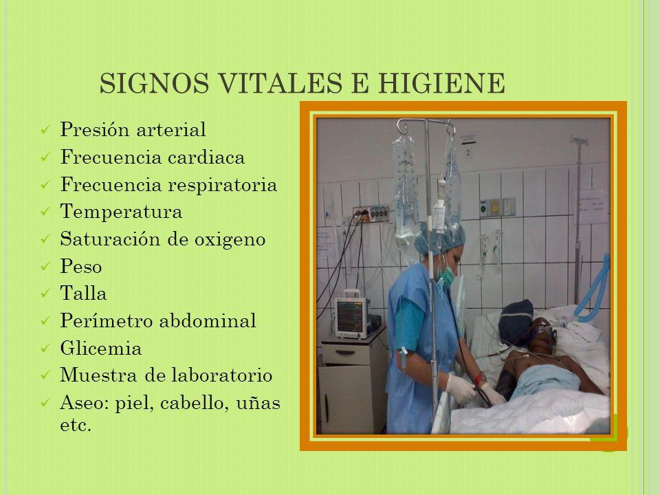 SIGNOS VITALES E HIGIENE
