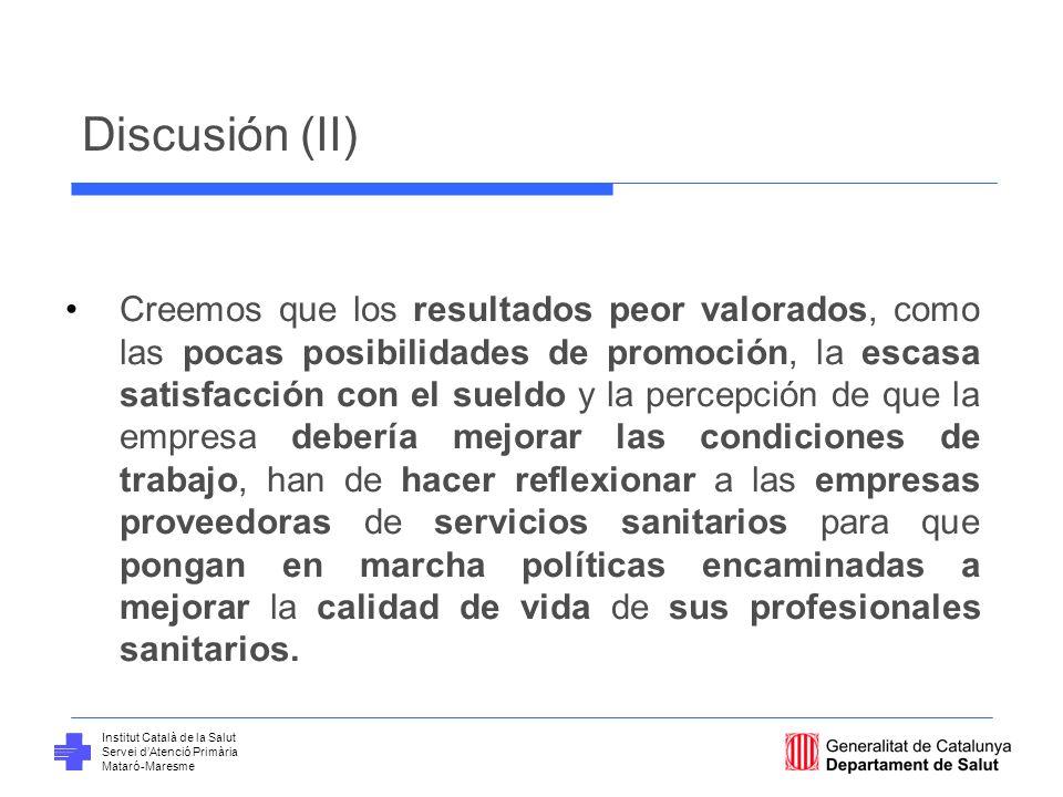 Discusión (II)