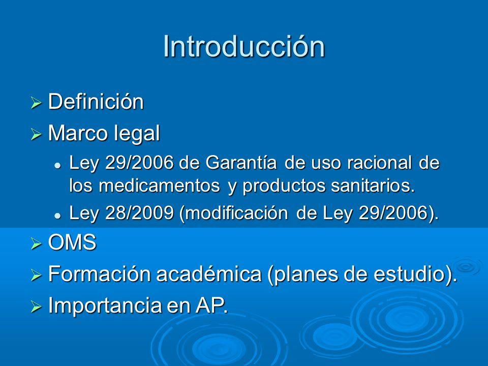 Introducción Definición Marco legal OMS