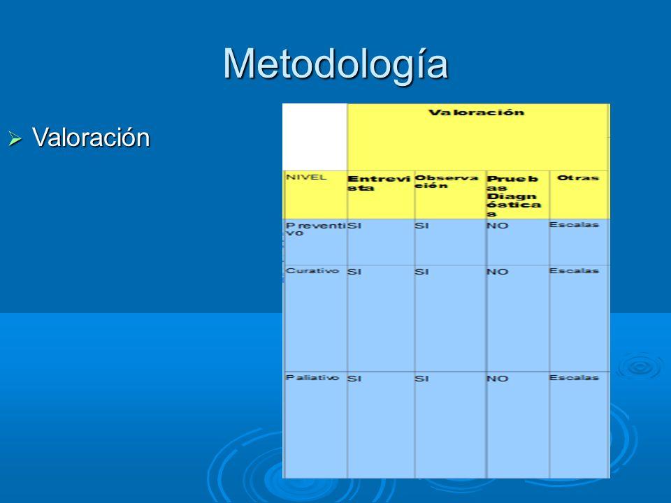 Metodología Valoración