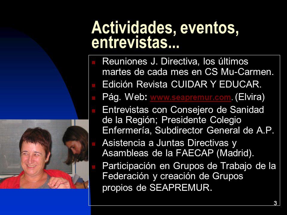 Actividades, eventos, entrevistas...