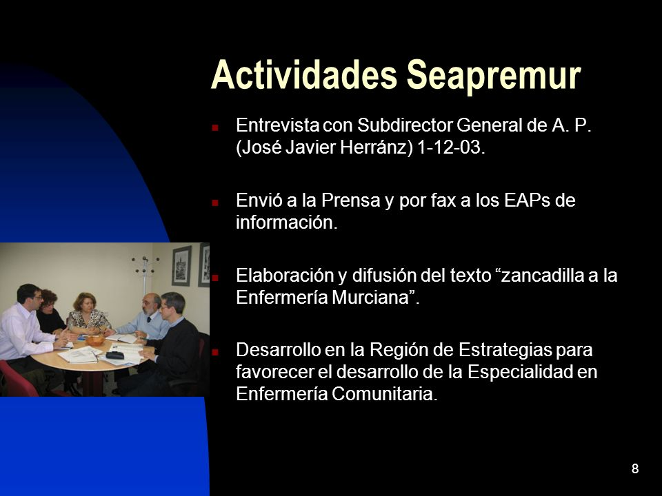 Actividades Seapremur