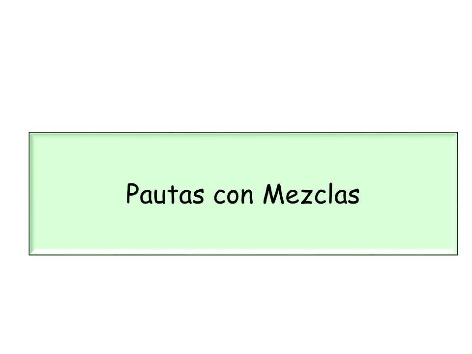 Pautas con Mezclas 23 23