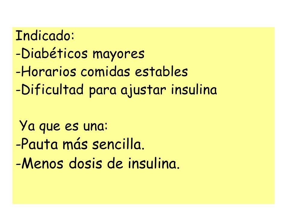 -Menos dosis de insulina.