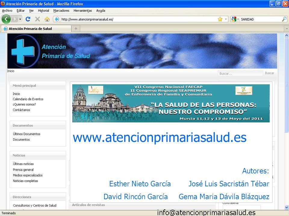www.atencionprimariasalud.es Autores:
