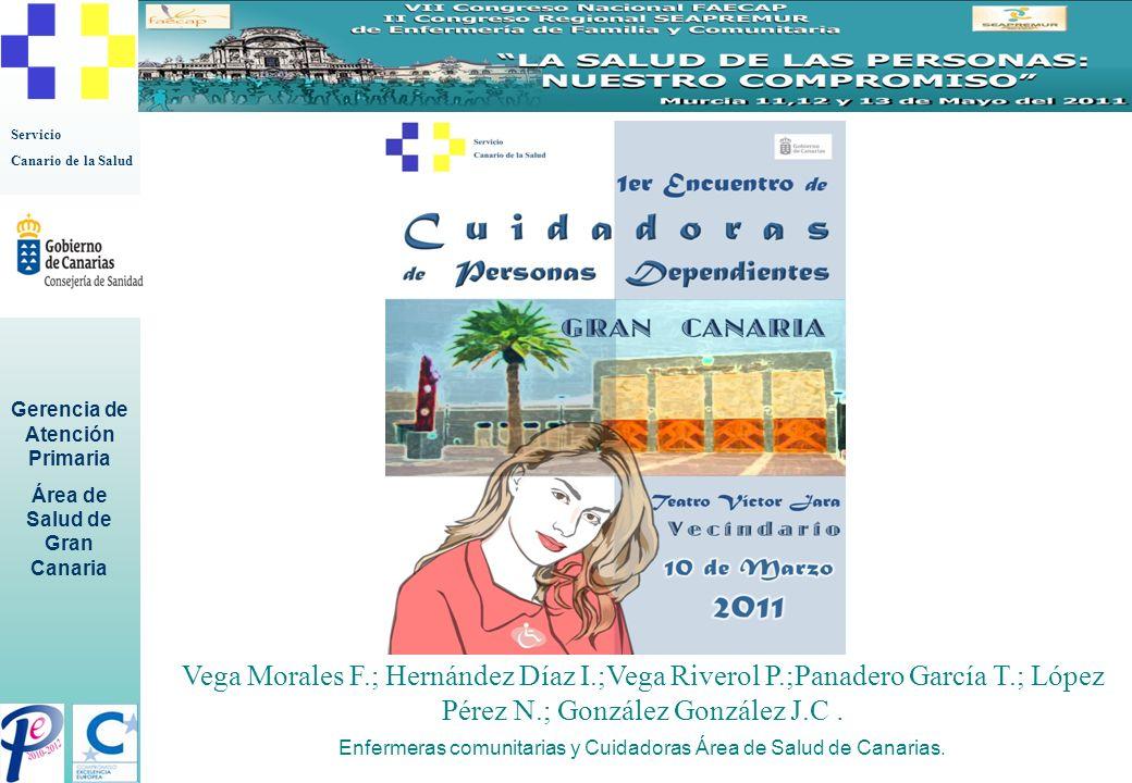 Enfermeras comunitarias y Cuidadoras Área de Salud de Canarias.