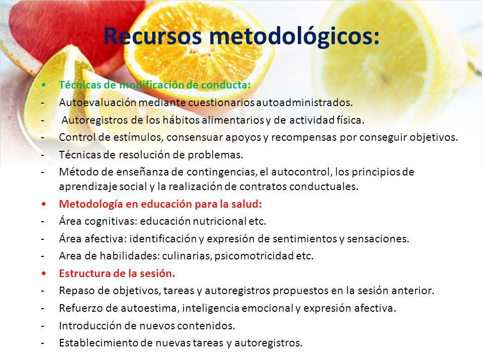 Recursos metodológicos: