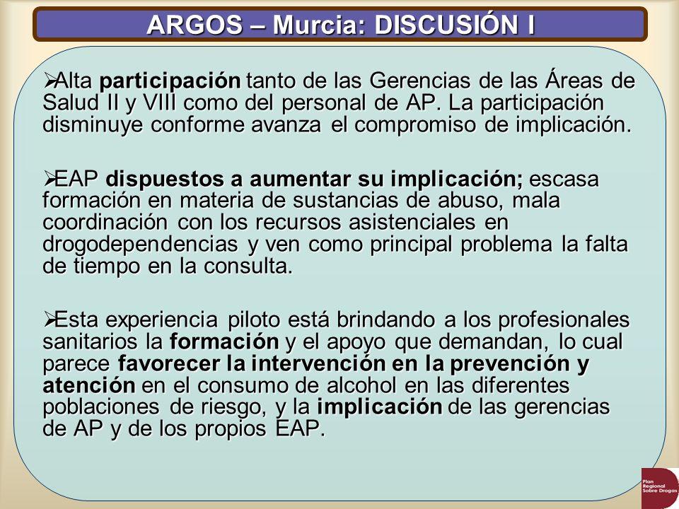 ARGOS – Murcia: DISCUSIÓN I