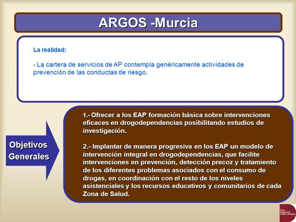 ARGOS -Murcia Objetivos Generales