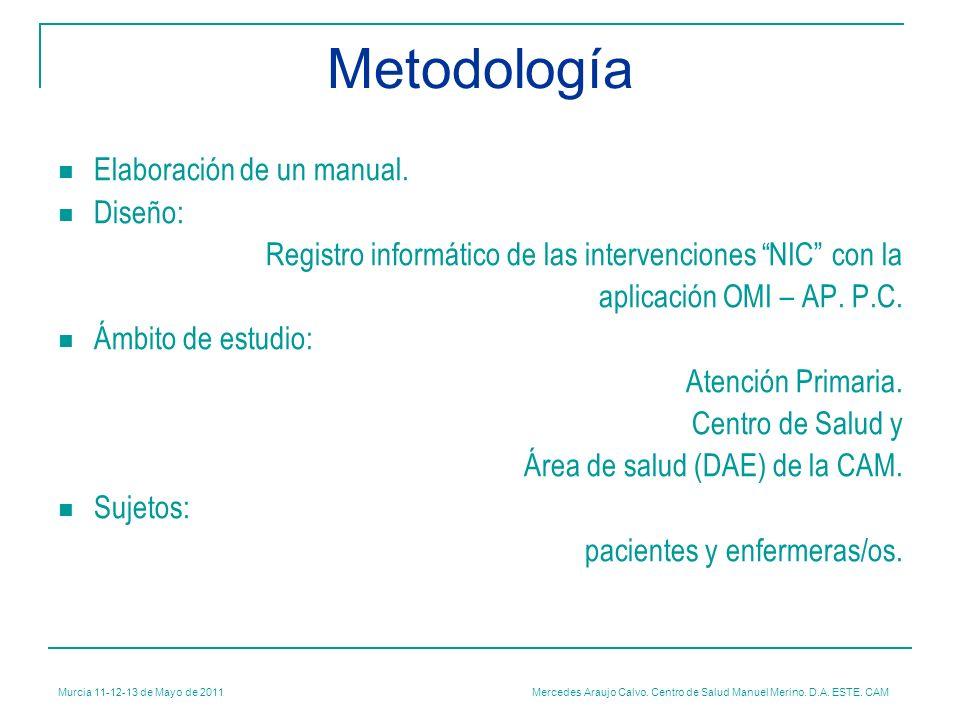 Mercedes Araujo Calvo. Centro de Salud Manuel Merino. D.A. ESTE. CAM