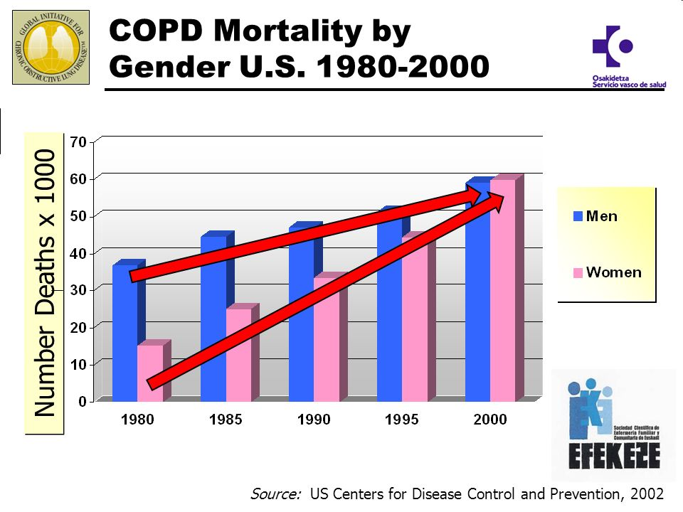 COPD Mortality by Gender U.S. 1980-2000