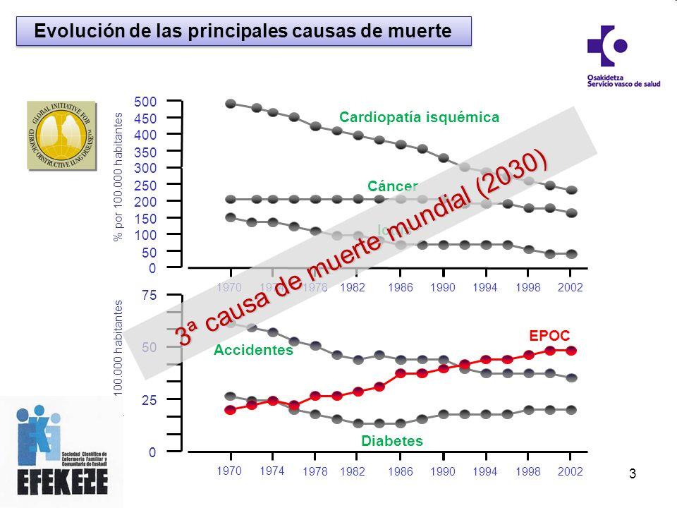 Evolución de las principales causas de muerte