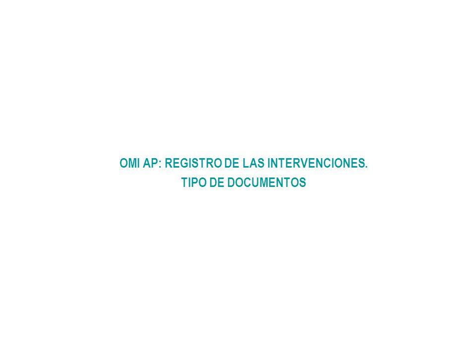 OMI AP: REGISTRO DE LAS INTERVENCIONES.