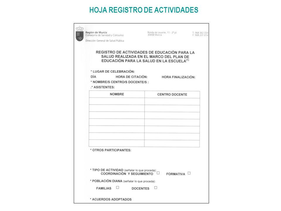 HOJA REGISTRO DE ACTIVIDADES