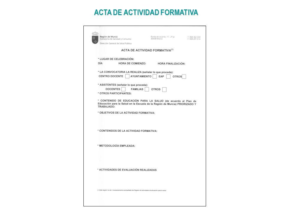 ACTA DE ACTIVIDAD FORMATIVA