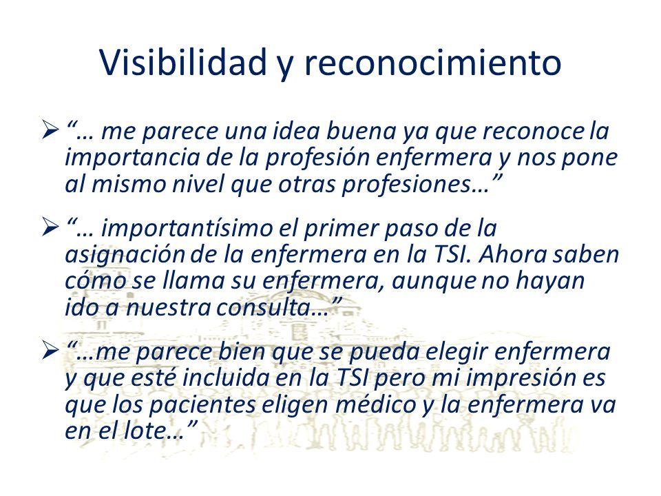 Visibilidad y reconocimiento