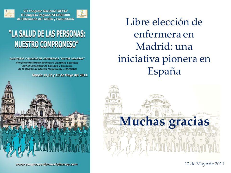Libre elección de enfermera en Madrid: una iniciativa pionera en España