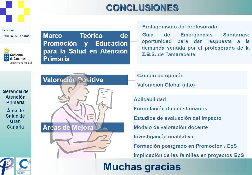 Muchas gracias CONCLUSIONES