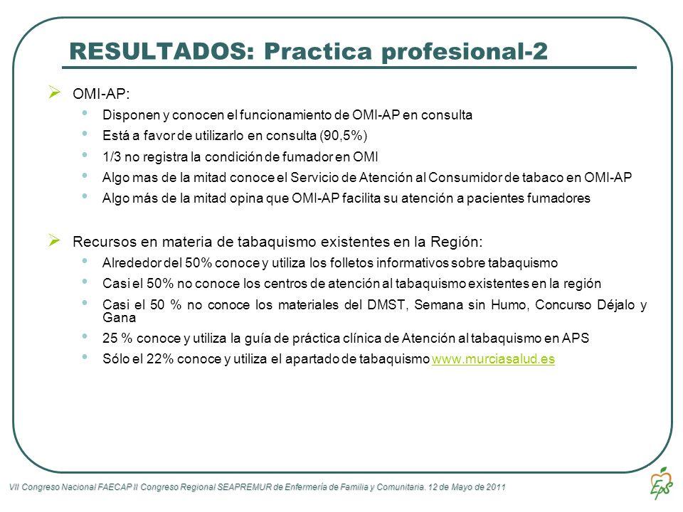 RESULTADOS: Practica profesional-2