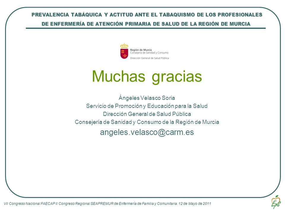 Muchas gracias angeles.velasco@carm.es
