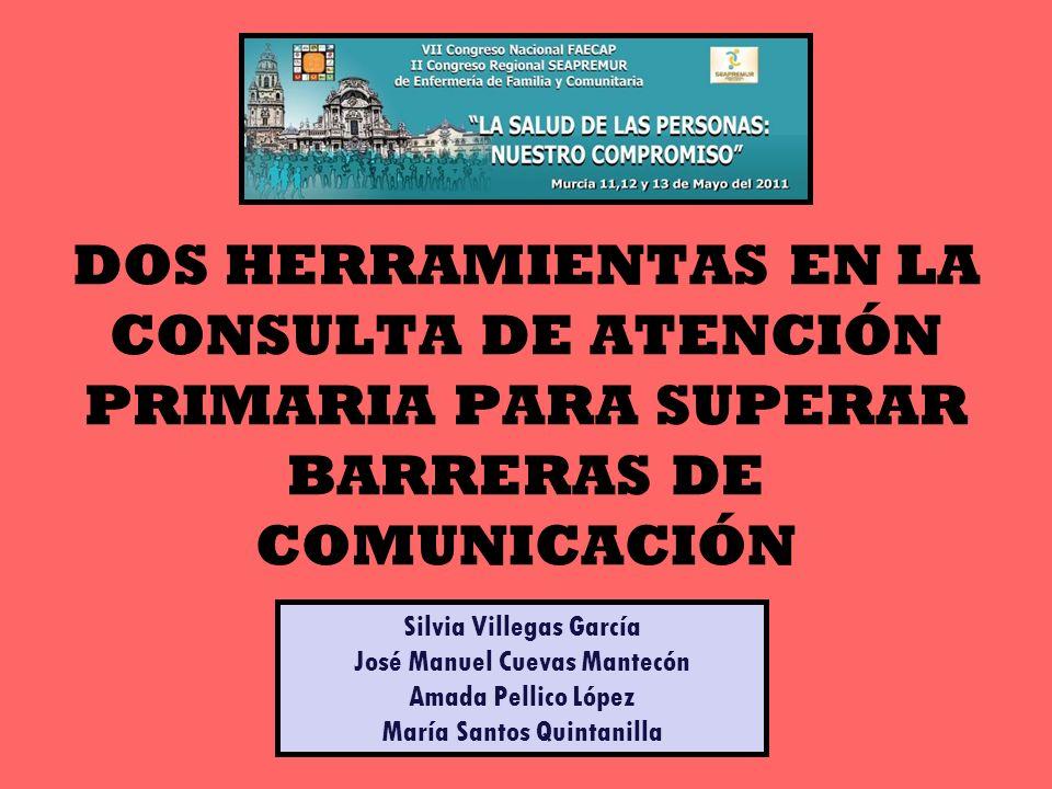 DOS HERRAMIENTAS EN LA CONSULTA DE ATENCIÓN PRIMARIA PARA SUPERAR BARRERAS DE COMUNICACIÓN