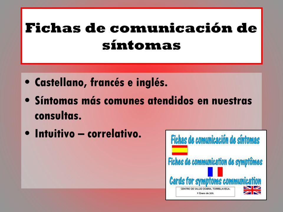 Fichas de comunicación de síntomas
