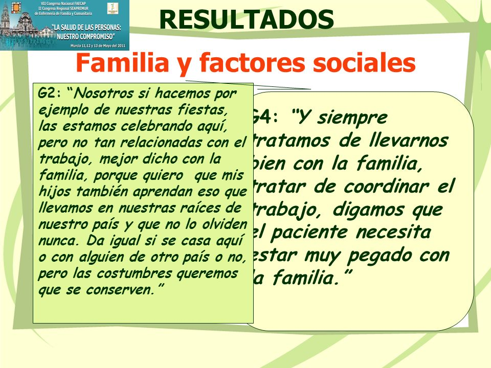 Familia y factores sociales