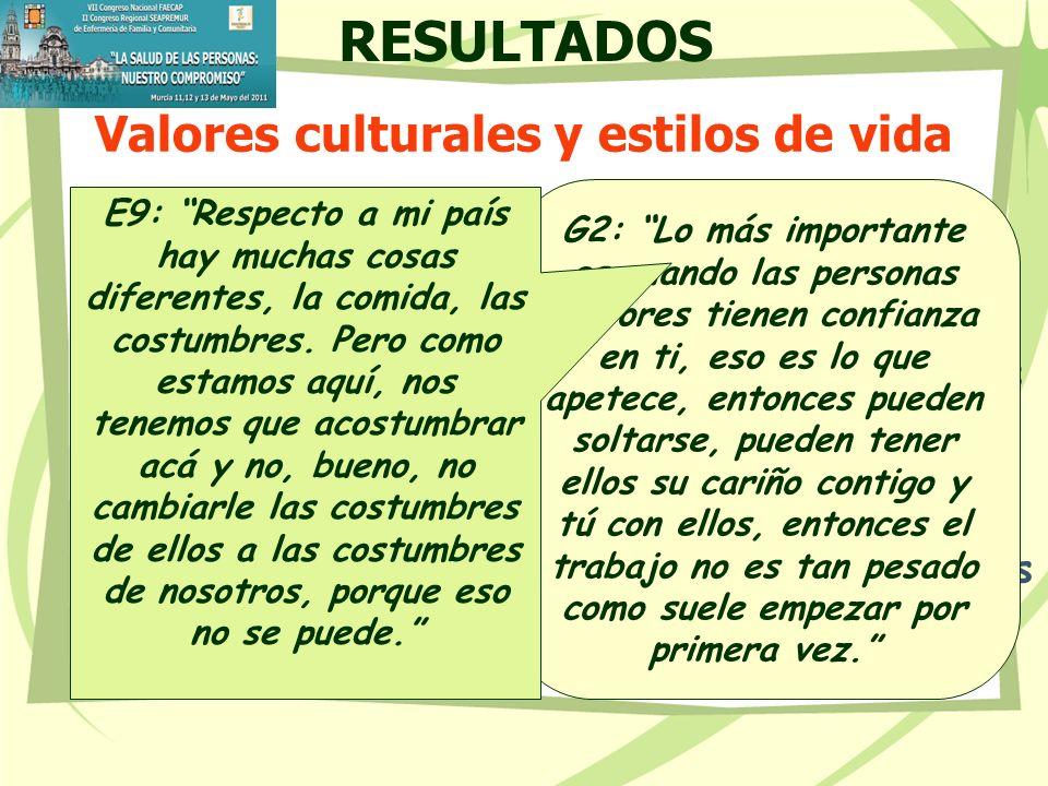 Valores culturales y estilos de vida