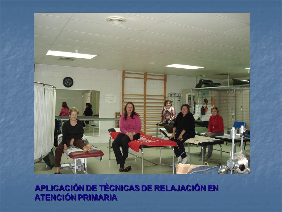 APLICACIÓN DE TÉCNICAS DE RELAJACIÓN EN ATENCIÓN PRIMARIA