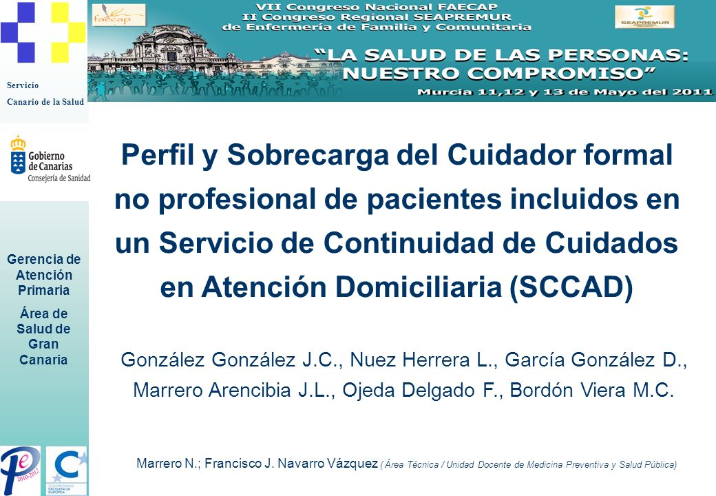Perfil y Sobrecarga del Cuidador formal no profesional de pacientes incluidos en un Servicio de Continuidad de Cuidados en Atención Domiciliaria (SCCAD)