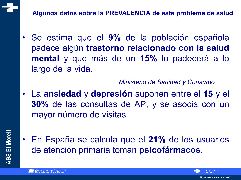 Algunos datos sobre la PREVALENCIA de este problema de salud