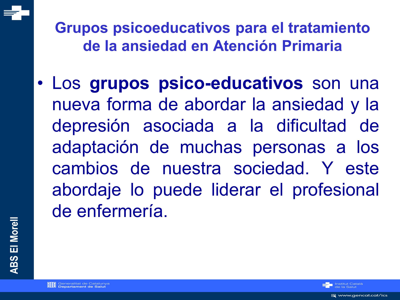 Grupos psicoeducativos para el tratamiento de la ansiedad en Atención Primaria