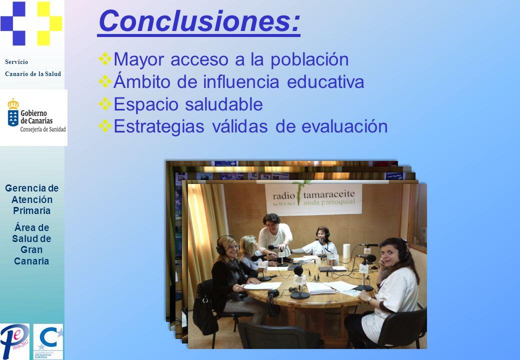 Conclusiones: Mayor acceso a la población