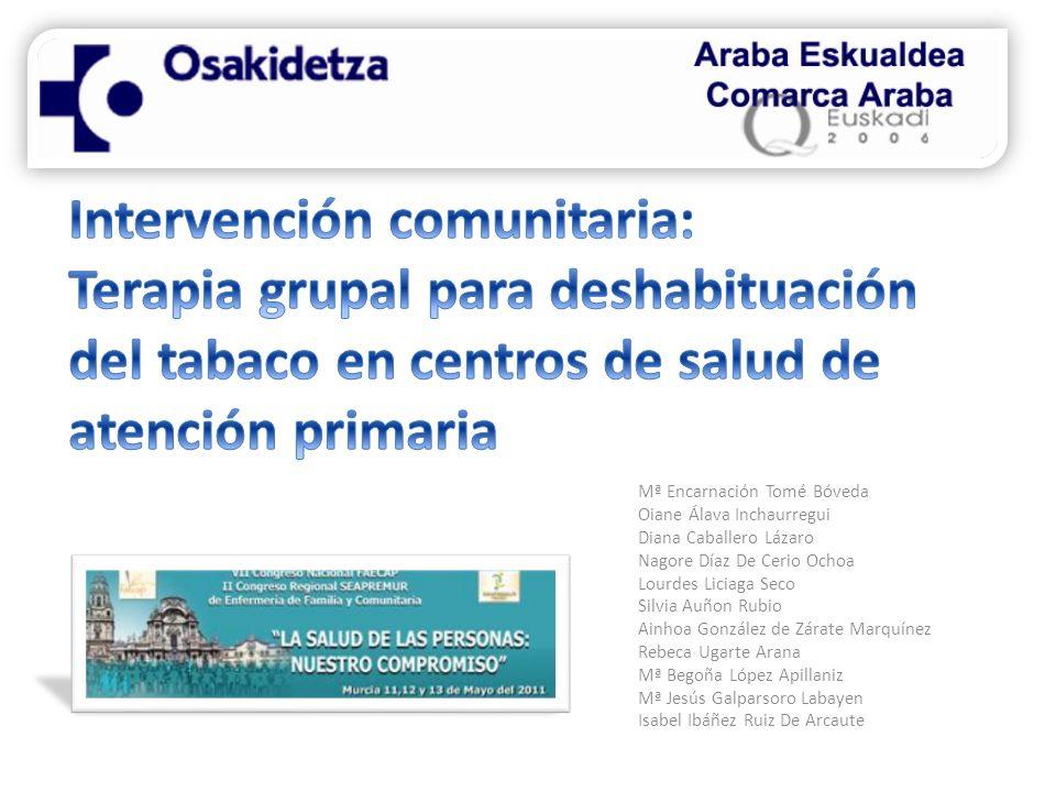 Intervención comunitaria: Terapia grupal para deshabituación del tabaco en centros de salud de atención primaria