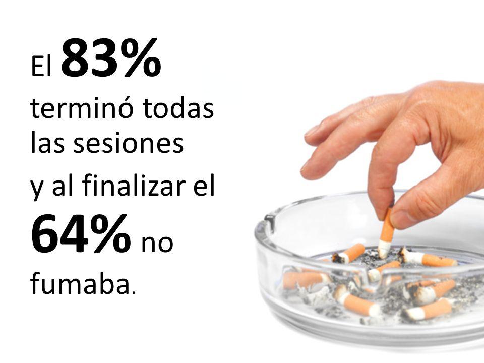 El 83% terminó todas las sesiones